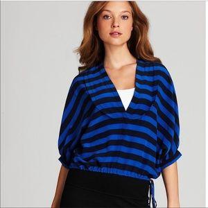 BCBG Maxazria | Hali Striped Silk Top NWT
